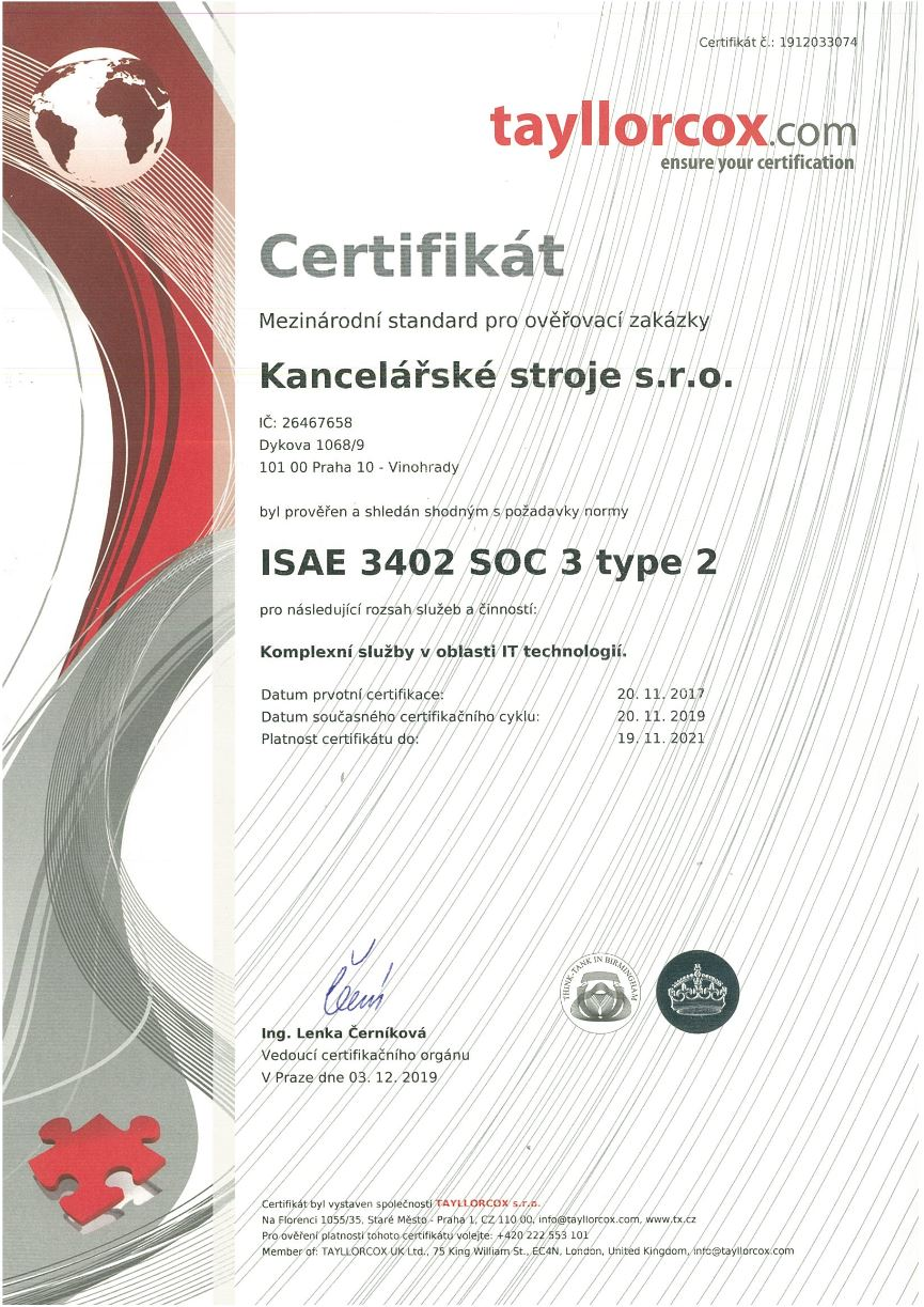 ISAE 3402 SOC 3 type 2